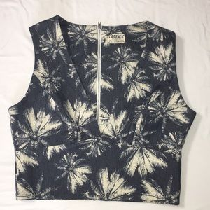 L'AGENCE for Intermix denim like crop top sz 8